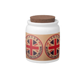 London - Union Jack - Welcome to United Kingdom Candy Jar