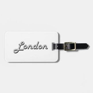 London United Kingdom Classic Retro Design Luggage Tags