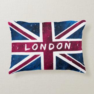 London - United Kingdom Union Jack Flag Accent Pillow