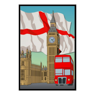 London Vecter Art Wall Poster/Framed Print