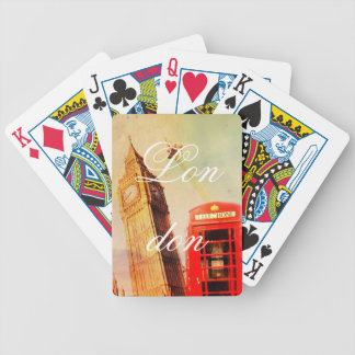 London vintage bicycle playing cards