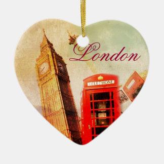 London vintage ceramic ornament