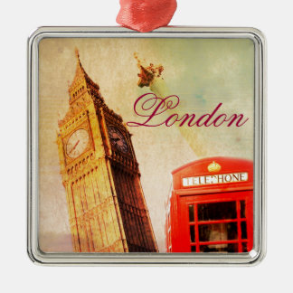 London vintage metal ornament