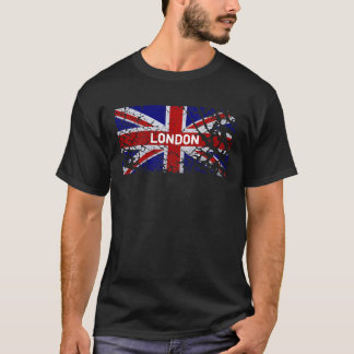London Vintage Peeling Paint Union Jack Flag T-Shirt