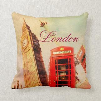 London vintage throw pillow