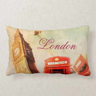 London vintage pillows