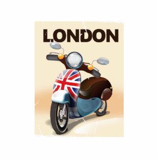 London vintage scooter union jack travel poster cutout