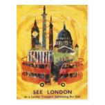 london vintage tarjetas postales
