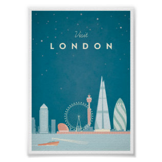 London Vintage Travel Poster at Zazzle