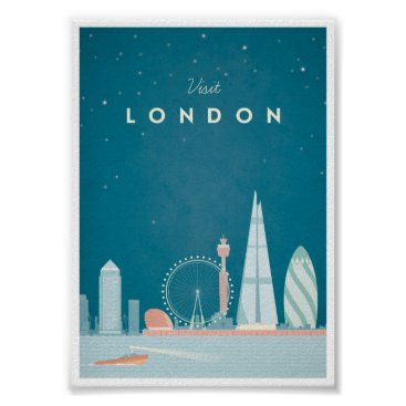 VintagePosterCompany London Vintage Travel Poster