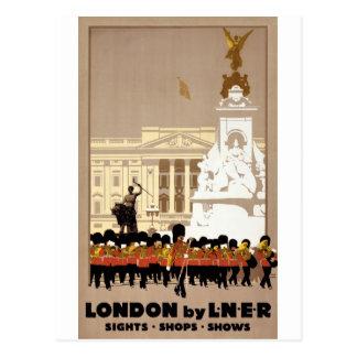 London Vintage Travel Poster Restored Postcard