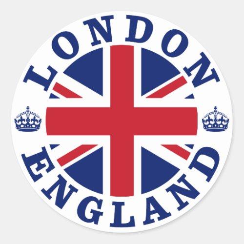 London Vintage UK Design Classic Round Sticker