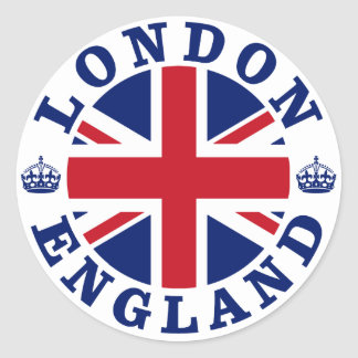 London Vintage UK Design Classic Round Sticker