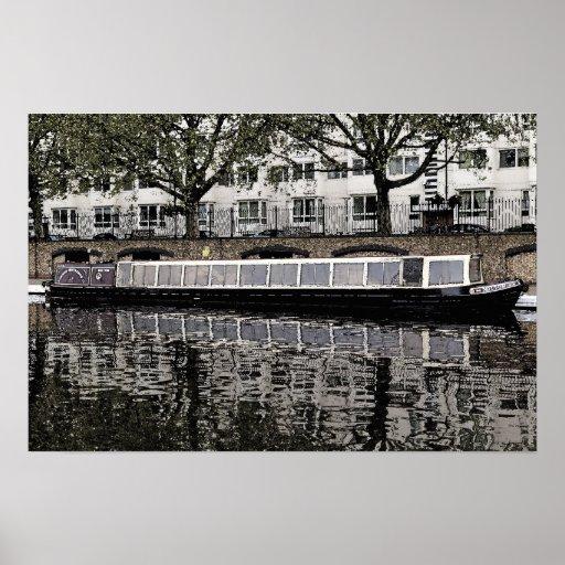 London  Waterbus Compainies  Narrow boat 'Milton' Poster