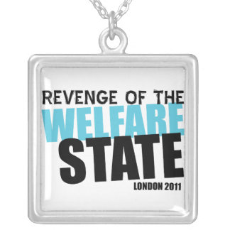 London Welfare State Square Pendant Necklace