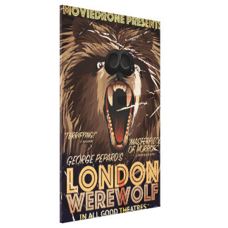 London Werewolf Vintage Movie poster Canvas Print