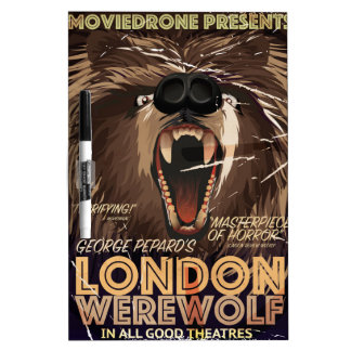 London Werewolf Vintage Movie poster Dry Erase Board