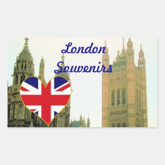 London Westminster Abbey British souvenirs Rectangular Sticker