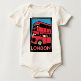 london westminster england art deco retro poster baby bodysuit