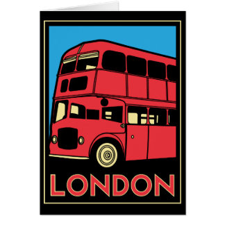 london westminster england art deco retro poster greeting card