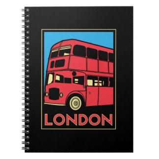 london westminster england art deco retro poster spiral note book