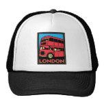 london westminster england art deco retro poster mesh hat