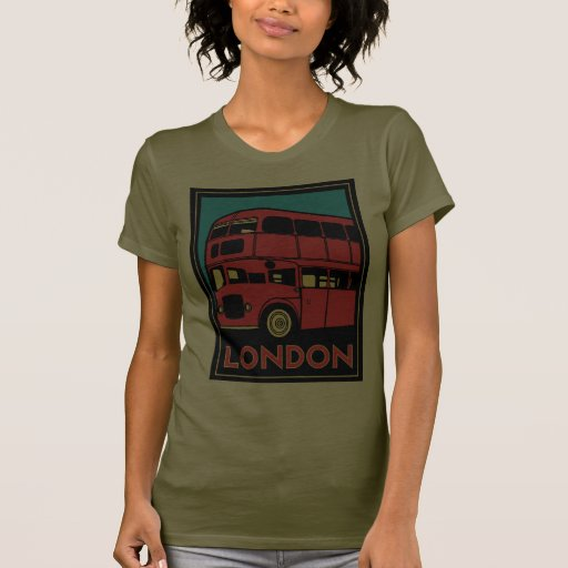 london westminster england art deco retro poster tee shirt
