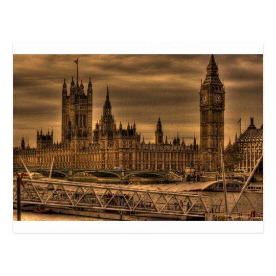 London Westminster Palace & Big Ben Postcard