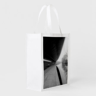 LONDON WESTWAY (URBAN CHIC BLACK AND WHITE) MARKET TOTES
