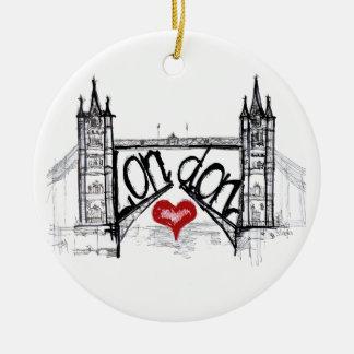 London with love ceramic ornament