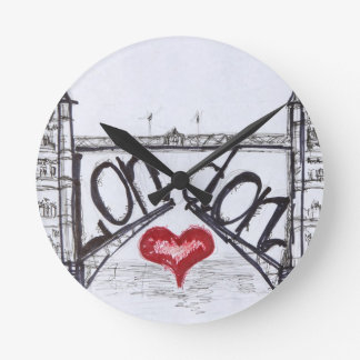 London with love round wall clock