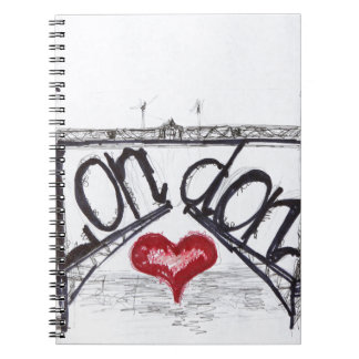 London with love notebook