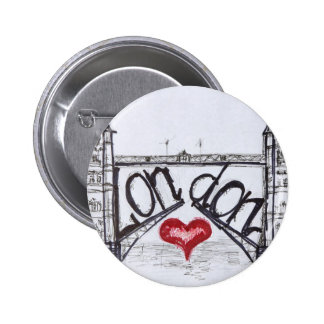 London with love pinback button