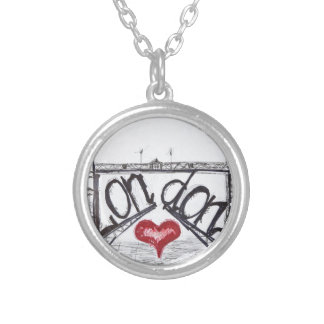 London with love round pendant necklace