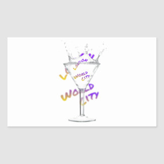 London world city, water Glass Rectangular Sticker