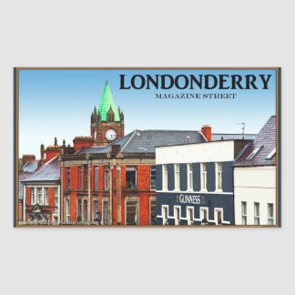 Londonderry / Derry - Magazine Street Rectangular Stickers
