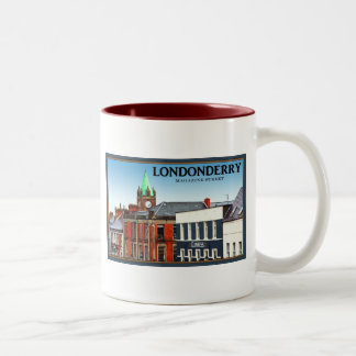 Londonderry / Derry - Magazine Street Two-Tone Coffee Mug