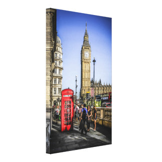Londone Red Telephone Box in Westminster Canvas Print