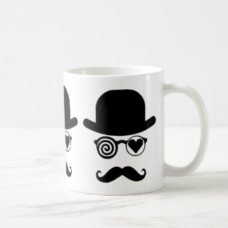 Londoner who fell in love Mustache Classic White Coffee Mug