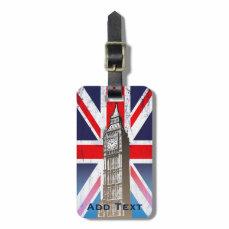 London's Big Ben Bag Tag
