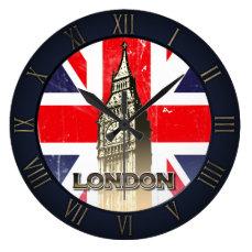 London's Famous Big Ben Large Clock