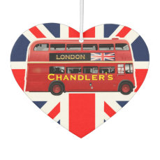 London's Famous Red Bus Car Air Freshener