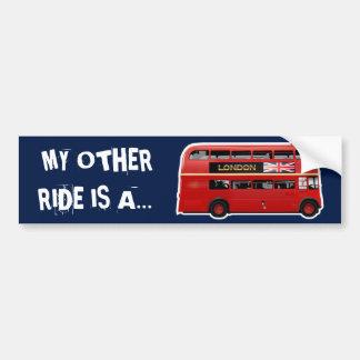 London's Famous Red Bus Car Bumper Sticker
