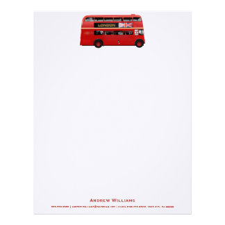 London's Famous Red Bus Letterhead