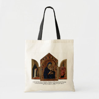 London'S Main Board Triptych: Madonna With Angels Canvas Bag
