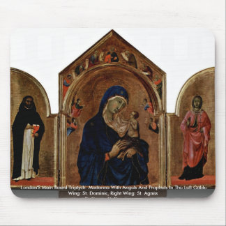 London'S Main Board Triptych: Madonna With Angels Mouse Pad