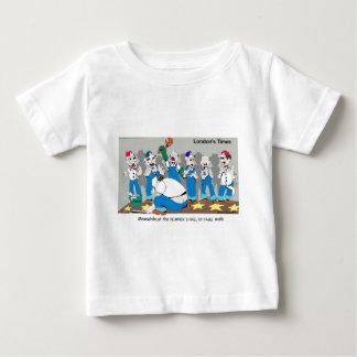 Londons mide el tiempo de camisetas de los dibujos polera