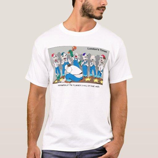 Londons mide el tiempo de camisetas del dibujo