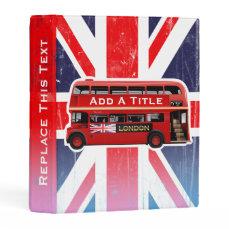 London's Popular Vintage Red Buses Mini Binder