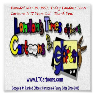 Londons Times Cartoons Logo Poster
